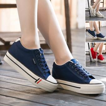 Giày vải nữ SAIKU SKG3322BW (Trắng xanh)
