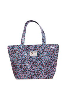 DHS Color Leopard Large Shoulder Bag Dumplings (Blue) - intl