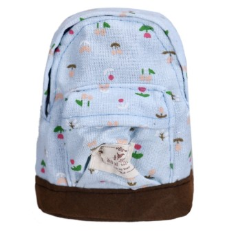 Canvas Mini Floral Backpack Women Girls Kids Cheap Coin Pouch SkyBlue - Intl