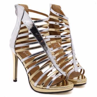 Giày cao gót xương cá da bóng nhuyễn S346 (Bac)