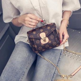 Túi xách nữ họa tiết hoa khóa cài Kem