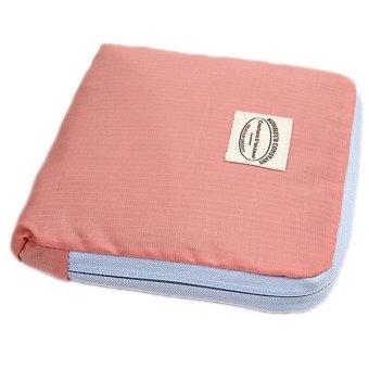LALANG Reusable Storage Bag Folding Shoulder Pouch Handbag (Pink) - intl