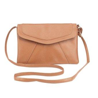 Women Vintage Casual Leather Shoulder Bag Party Purse (Khaki) - INTL