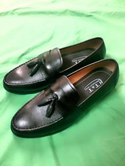 Giày lười da thật zazaz ( Đen )