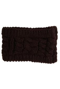 LALANG Turban Knitted Headband (Brown)