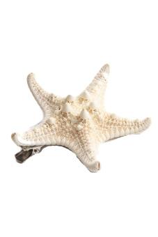 Fancyqube 1pc Womens New Fashion Starfish Beach Sea Star Hairpin Hair Clip Xmas Beige