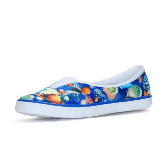 Giày Búp Bê Nữ QuickFree Fashion B160102-002 (Địa Cầu Xanh)