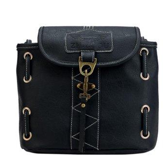 Fashion Women PU Leather Vintage Handbag Bucket Shoulder Bag Crossbody Bag - intl