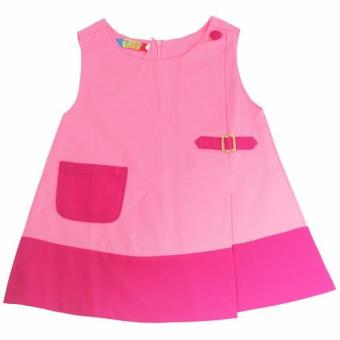 Đầm kaki đính túi chữ A bé gái 2-9 tuổi Tri Lan DBG003 (Hồng)