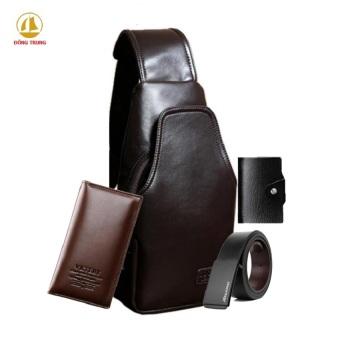 Bộ túi đeo chéo + ví dài thời trang + dây lưng và ví đựng card