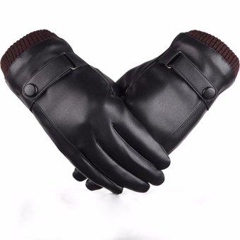 Găng tay da nam BTDN00006 (Đen)