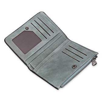 Trendy Tidy Line Letter Print Zipper Hasp Design Multicard Bit Wrist Wallet - intl