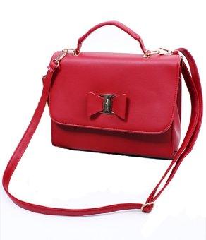 Túi nữ khóa nơ MS107 (Đỏ)