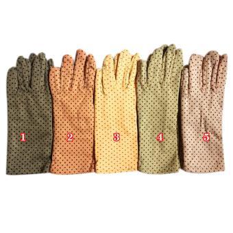 Combo 4 đôi Găng tay ngắn 2 lớp chống nắng UPF50 họa tiết chấm bi