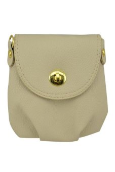 HKS Women Handbag Messenger Bag Small Mini Casual Travel Satchel Purses (Beige) - intl