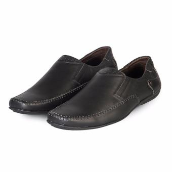 Giày Mọi Nam Da Bò Hùng Cường HC1203 (Đen)