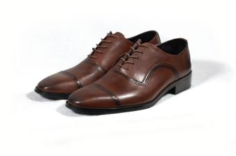 Giày tây đục lỗ cột dây Tathanium Footwear (Nâu)