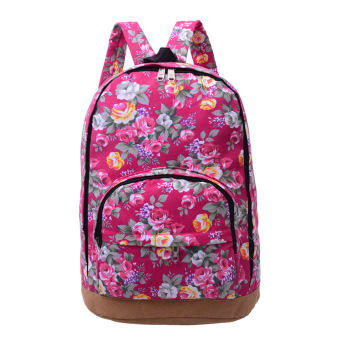 Women Canvas Backpack(Red) - intl