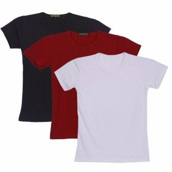 Bộ 3 áo thun nam body cổ tròn ( đen, trắng , đỏ đô )