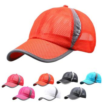 Outdoor Holiday Sunshade Sun Hat Quick-dry Ventilation Baseball Cap (Black)
