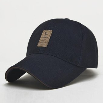 Popular &Fashion design Men 's Baseball Cap Outdoor Sports Golf leisure hats men's accessories ( Navy Blue) - intl