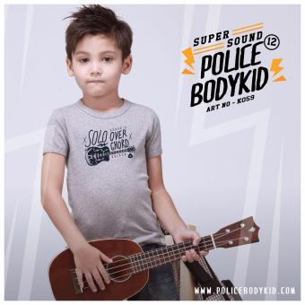 Áo thun trẻ em Police Bodykid nhập khẩu Thái Lan K059 (xám)