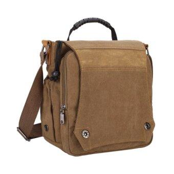 2016 Men New Fashion Canvas Bag Hanbag Tote Shoulder Crossbody Bag(Khaki) - intl