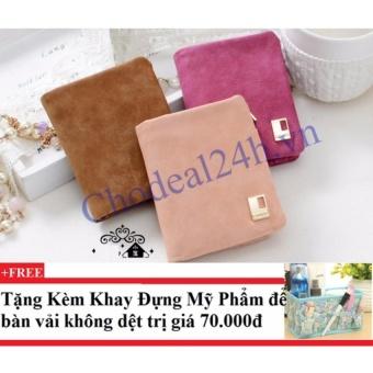 Combo 3 Bóp vuông cầm tay VN02 (cam,hồng,hồng phấn) + Tặng kèm khay đựng mỹ phẩm để bàn