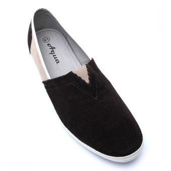 Giày lười nam hiệu Aqua Sportswear L002K (Nâu phối kem)