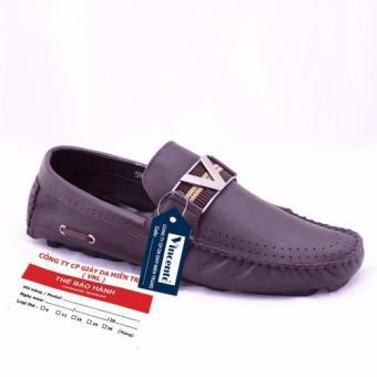 Giày lười nam Da Thật chính hãng Giày Da Miền Trung VCTS90LZD11-1 (Đen )