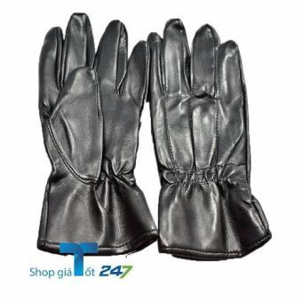 Găng tay da nam tiện lợi Giá Tốt 247 ( Đen)