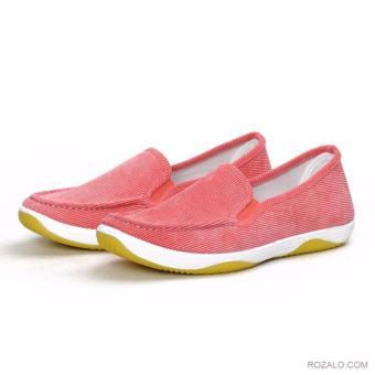 Giày lười vải nữ Rozalo RWG2011P-Hồng
