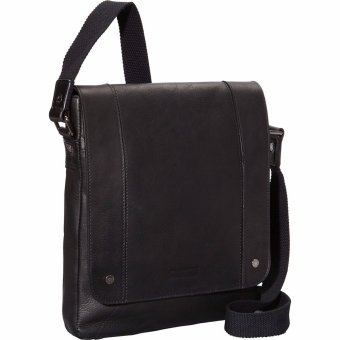 Túi chéo vai bằng da đen Columbia cao cấp Kenneth Cole Reaction Meet Me Half Day Colombian Leather Tablet Day Bag (Mỹ)