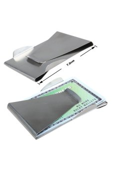 HKS Hot Slim Money Clip Credit Card Holder Unisex Double Sided Holder Wallet - intl
