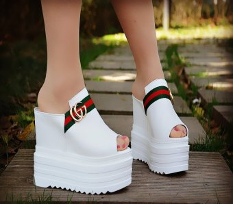 Women Platform Sandals Flat with Thick Bottom Bohemia Contracted White Comfortable Shoes - intl