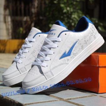 Giày thể thao Nam FASHION GN001 (trắng phối xanh)