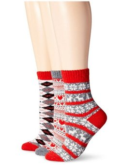 Bộ 3 Đôi Tất Nữ Muk Luks Women's Nordic Fair Isle Socks 3-Pack