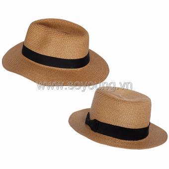Bộ 2 Mũ Cói Đi Biển Nam Nữ SoYoung SYCB HAT 043 BR PS WM HAT 044 BR