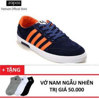 Giày Sneaker Thời Trang Nam Zapas – GS033 (Xanh) + Vớ Nam