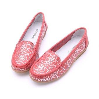 Giày nữ da bò 6651160D (Đỏ)