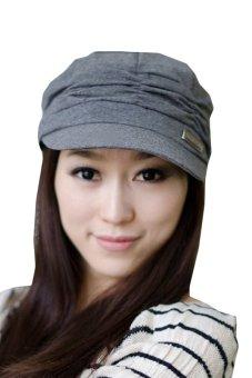 Cyber Unsex Women Pleated Peaked Cotton Sun Hat (Grey) - Intl
