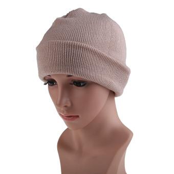 Men's Women Beanie Knit Ski Cap Hip-Hop Winter Warm Unisex Wool Hat Beige (Intl)