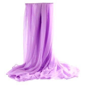 Moonar Women Chiffon Soft Scarves Long Wraps Shawl Beach Silk Scarf (Purple)