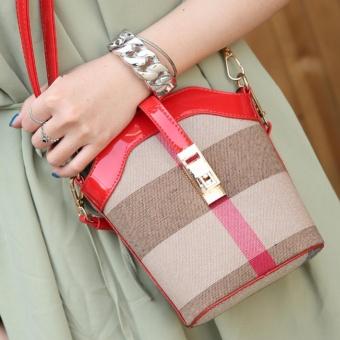 Túi xách đeo chéo mini cực yêu - T4214 ( màu caro đỏ)