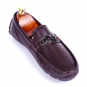 Giày lười nam da thật cao cấp Da Giày Việt Nam - VNLHV16VCT3N-1 (Nâu)