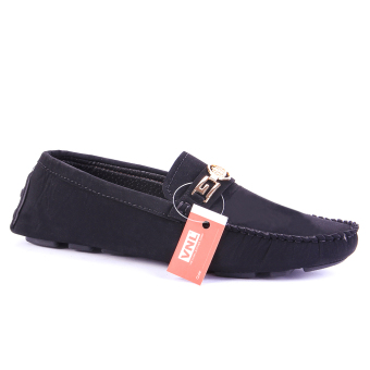 Giày Lười Nam Da Cao Cấp Đen Chính hãng Da giày Việt Nam VNLMO2A34D ( Màu Đen )