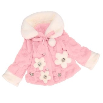 Cyber FINEJO Baby Little Girls Winter Cute Warm Jacket Xmas Snowsuit Outwear Coat (Pink) - intl