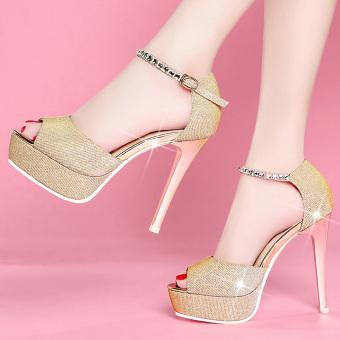 Giày cao gót quai đá CG536 (Vàng)