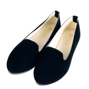 Women Casual Ballet Slip On Flats Single Shoes Black and Blue - - intl