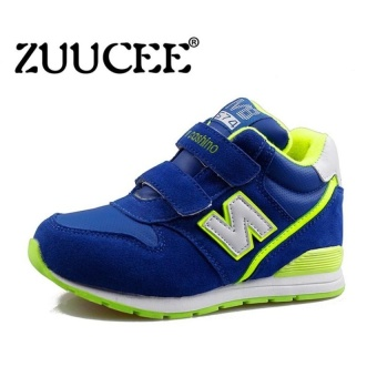 Boys Fashion Velvet Childrens Shoes Autumn And Wintersneakers(Blue) - intl